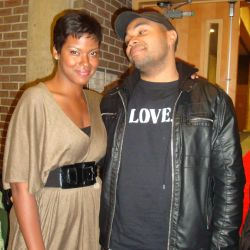 Ms. Cassandra Freeman, a member of the cast, with Mr. Tommy Oliver, one of the film's producers